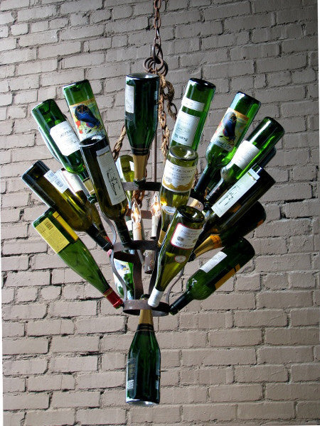 Lighting - Luce De Vino Wine Bottle Chandelier - Small