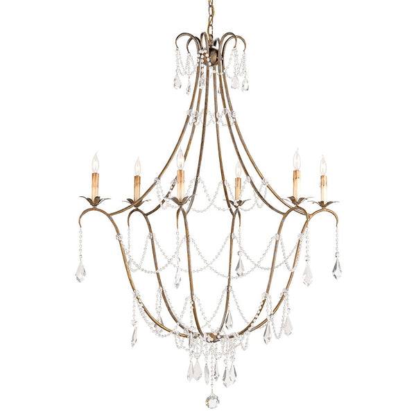 Lighting - Luxe Crystal Strands Chandelier — Gold