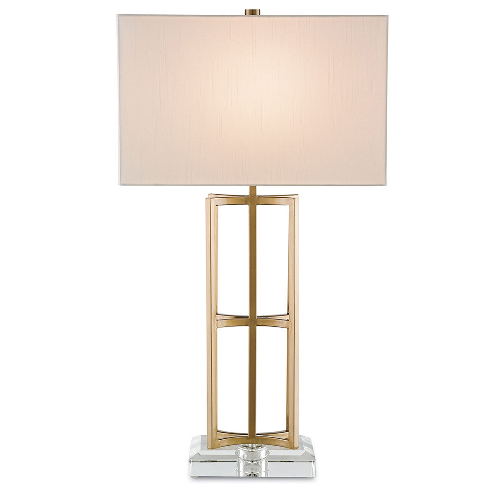 Attractive Lighting   Luxe Open Frame Table Lamp With Acrylic Base U2014 Coffee Brass