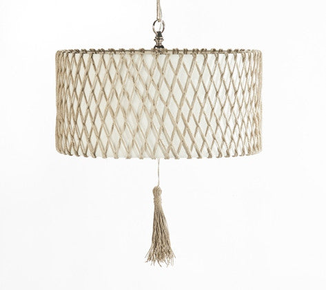 Lighting - Maya Natural Drum Chandelier