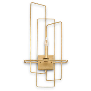Lighting - Modern Interlocking Sconce — Gold