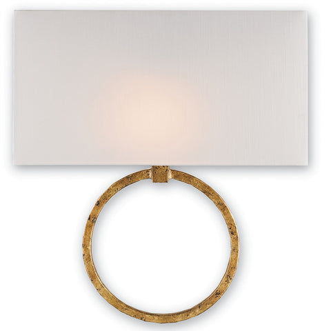 Lighting - Ring Wall Sconce With Shade — Gold Leaf