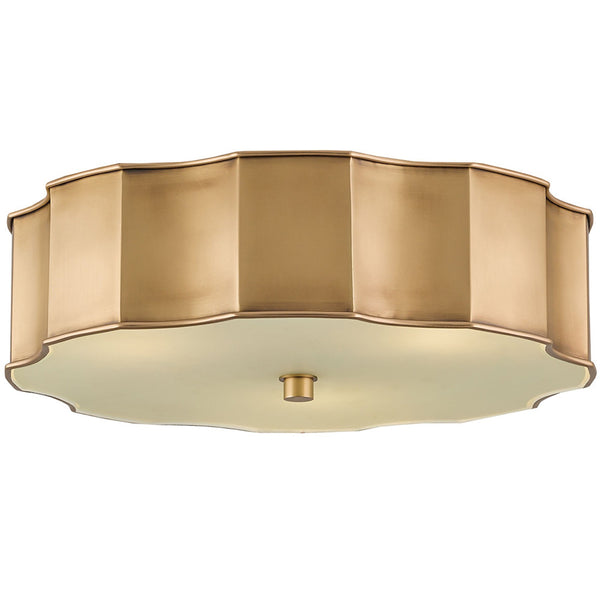 Lighting - Scalloped Flush Mount Light – Brass