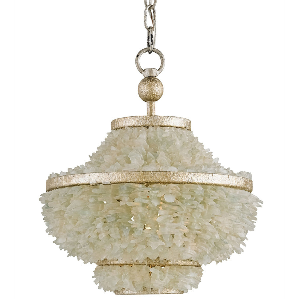 Lighting - Sea Glass Basket Pendant Light — Silver & White