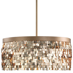 Lighting - Textured Scales Chandelier — Gold