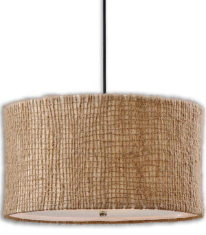 Lighting - Twine Drum Pendant Light