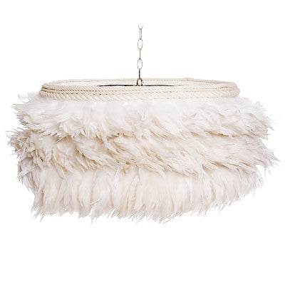 Lighting - White Feather Chandelier