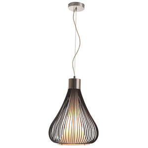 Lighting - Wire Tear Drop Pendant Light — Black