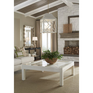 "Malibu 52"" Square Lacquer Coffee Table - Brown (Additional Colors Available)"