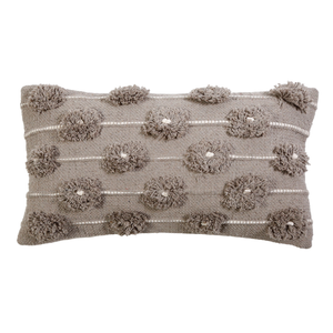 "POM POM AT HOME LOLA HAND WOVEN PILLOW 14"" X 24"" WITH INSERT"
