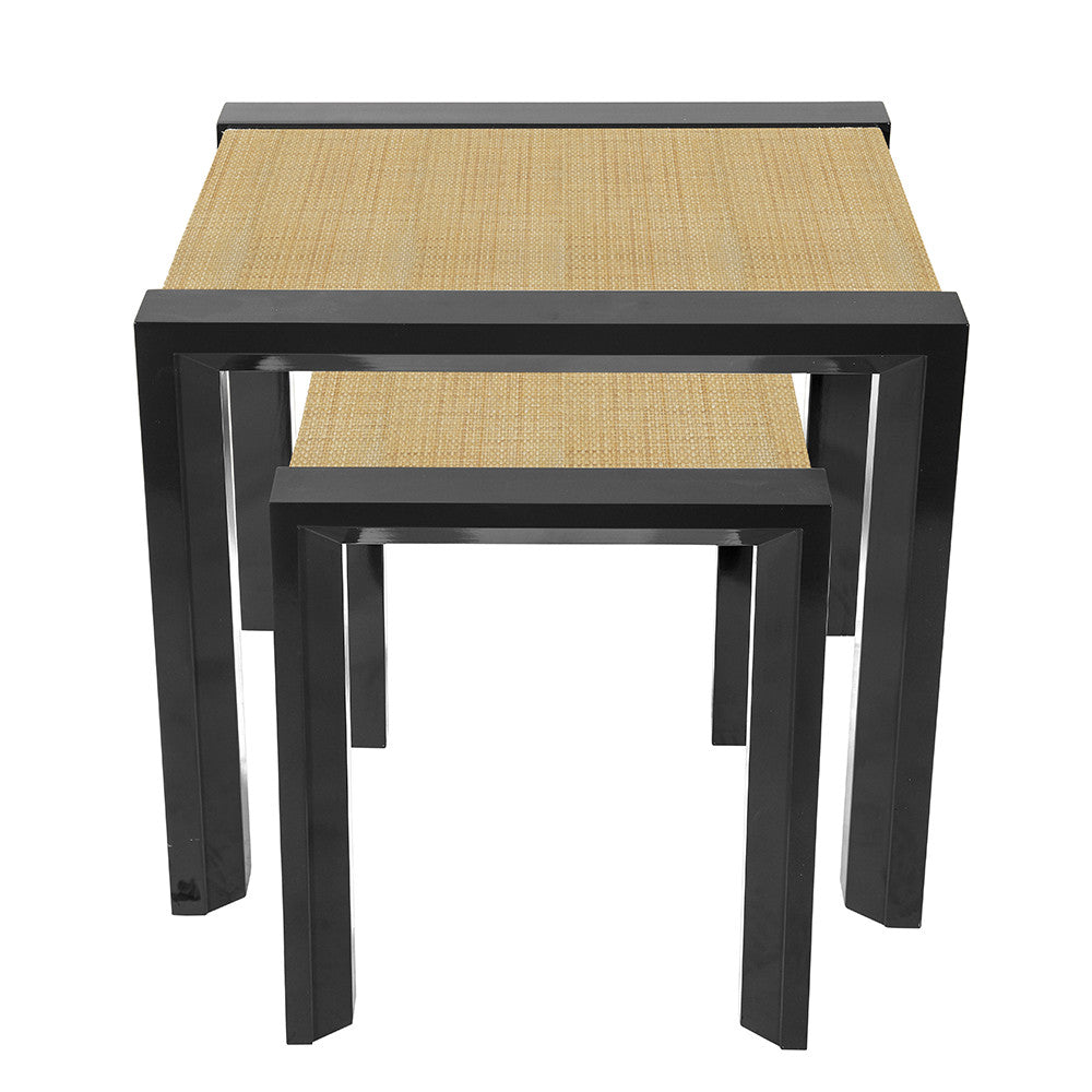 Modern Lacquer Nesting Side Tables – Black (Additional Colors Available)