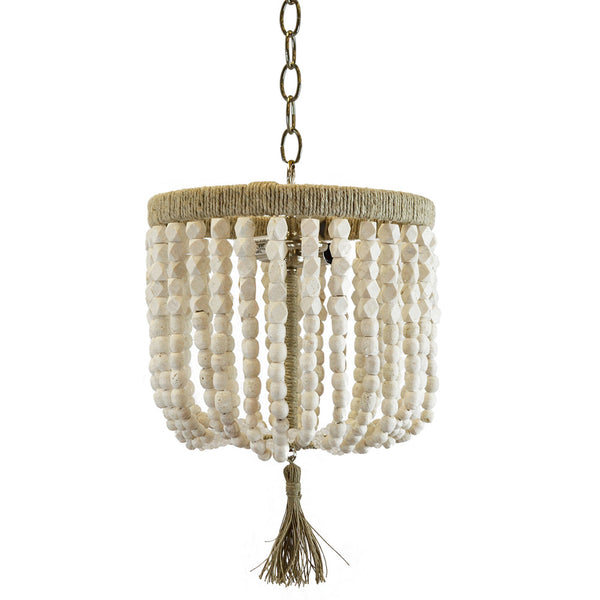 "12"" Malibu Beaded Chandelier – Soap Stone Beads"