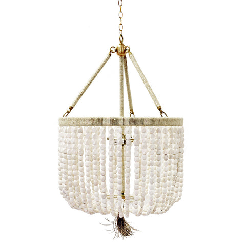 "18"" Malibu Beaded Chandelier with Arms – Soap Stone Beads"