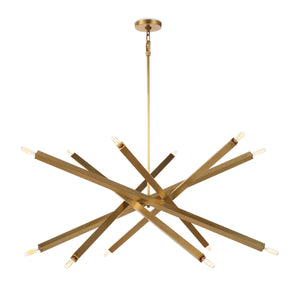 Viper Chandelier (Natural Brass)