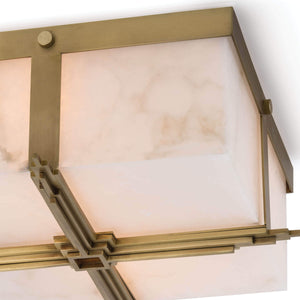 Gotham Flush Mount (Natural Brass)
