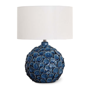 Lucia Ceramic Table Lamp (Blue)