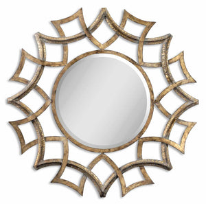 Mirrors - Antique Gold Sunburst Mirror