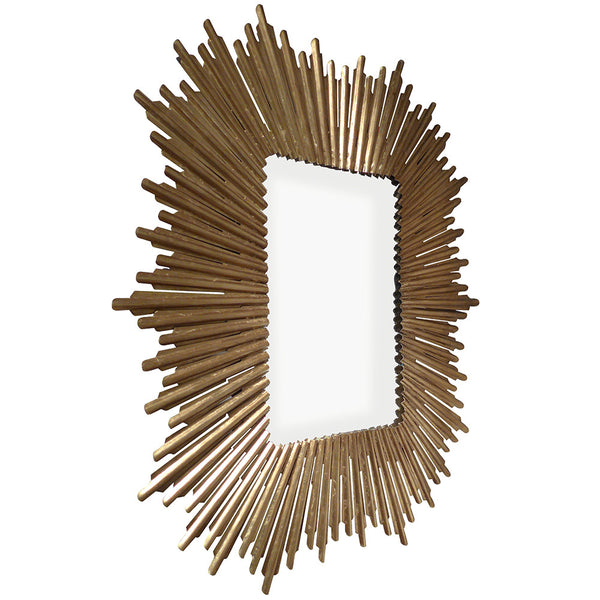 Mirrors - Burst Rectangular Mirror – Gold