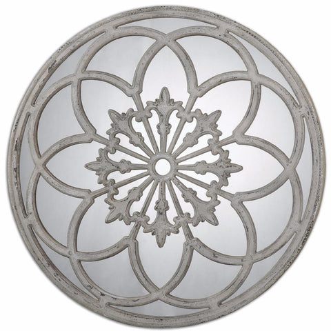 Mirrors - Distressed Round Decorative Mirror