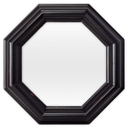 Mirrors - Ella Octagon Beveled Mirror - Black  ( 28 Finish Options )