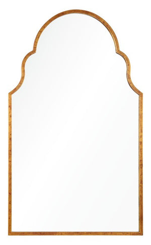 Mirrors - Grace Arched Mirror - Antiqued Gold