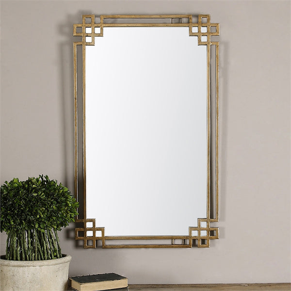 Mirrors - Greek Key Mirror — Distressed Gold