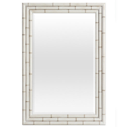 Mirrors - Hemingway Faux Bamboo Mirror - Raw White Cotton ( 28 Finish Options )