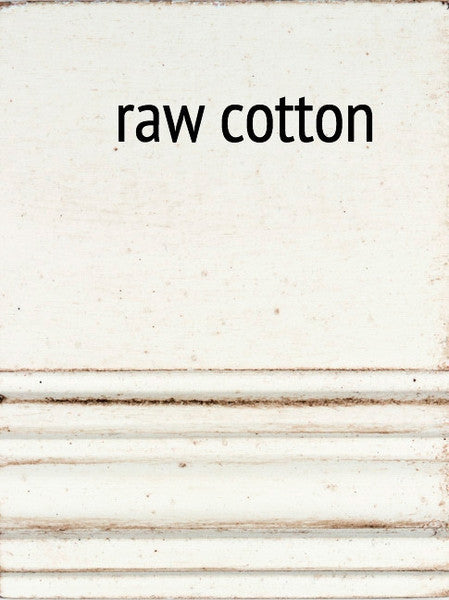 Faux Bamboo Mirror Raw White Cotton 21 Finish Options