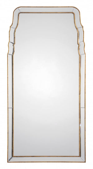 Mirrors - Queen Anne Mirror - Antique Gold