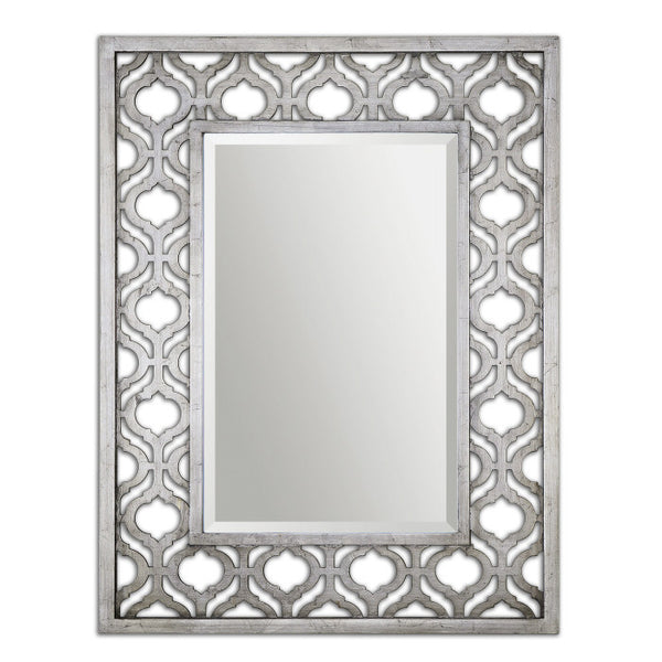 Mirrors - Silver Leaf Moroccan Mirror