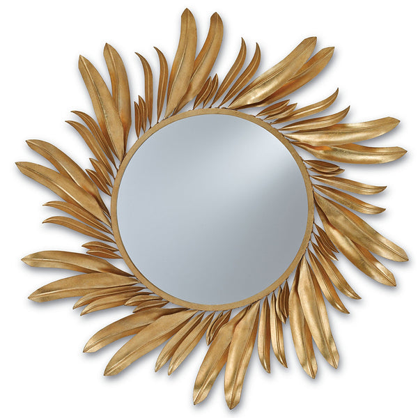 Mirrors - Wrought Iron Petals Mirror – Gold Leaf
