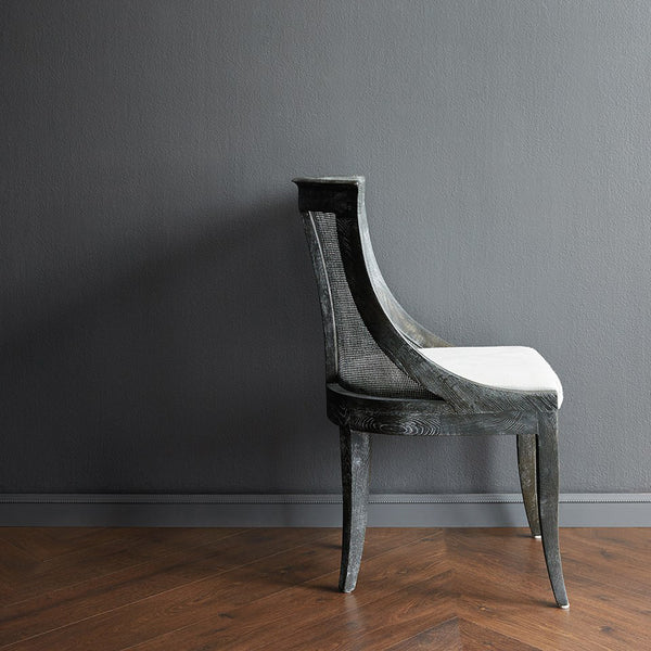Bungalow 5 Curved Cane Chair — Grey