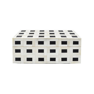 Worlds Away Black & Natural Bone Decorative Box - Large