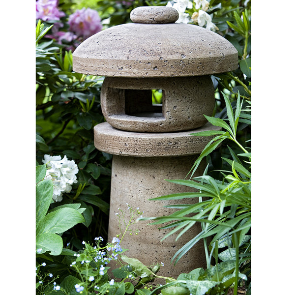 Japanese Lantern Sculpture - Brown Patina