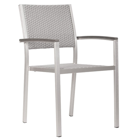 outdoor furniture modern aluminum outdoor woven arm chairs grey - Modern Aluminum Patio Furniture