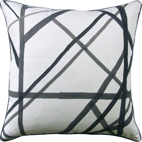Pillows - Channels Pillow- Ivory & Black