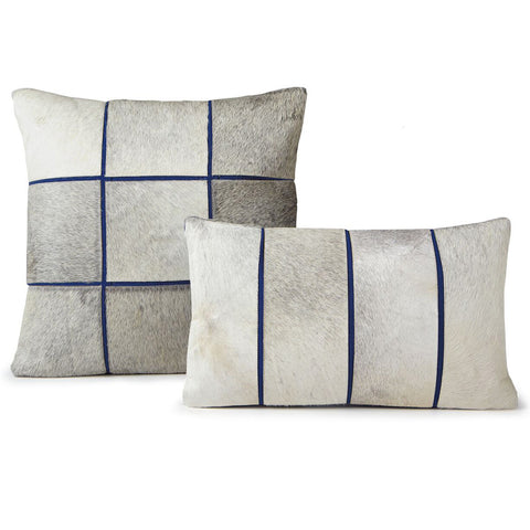 Pillows - Hide Grid Pillow – Blue