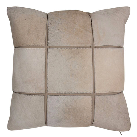 Pillows - Hide Grid Pillow – Natural