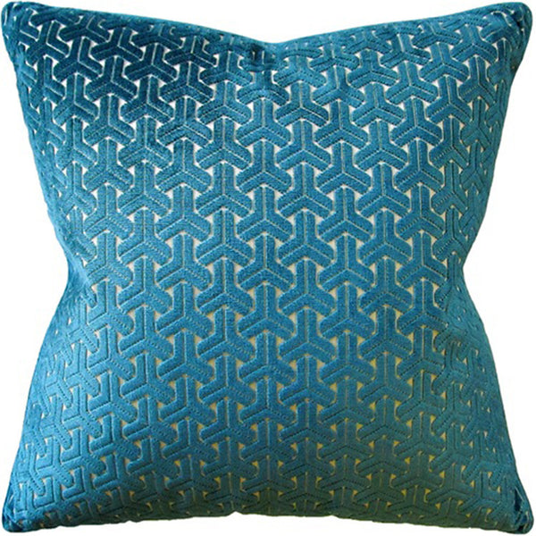 Pillows - Interlock Velvet Pillow – Teal Blue