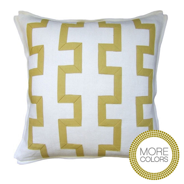 Pillows - Ivory Trellis Fretwork Pillow