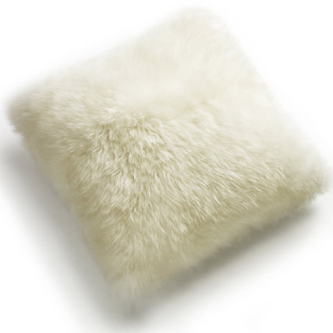 Pillows - Luxe Ivory Premium Sheepskin Pillow - In 4 Sizes