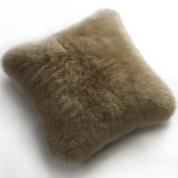 Pillows - Luxe Taupe Premium Sheepskin Pillow - In 4 Sizes