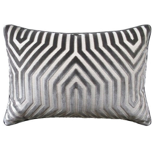 Pillows - Metro Silver Velvet Pillow