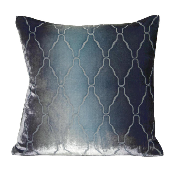 Pillows - Moroccan Arches Ombre Velvet Pillow - Dusk