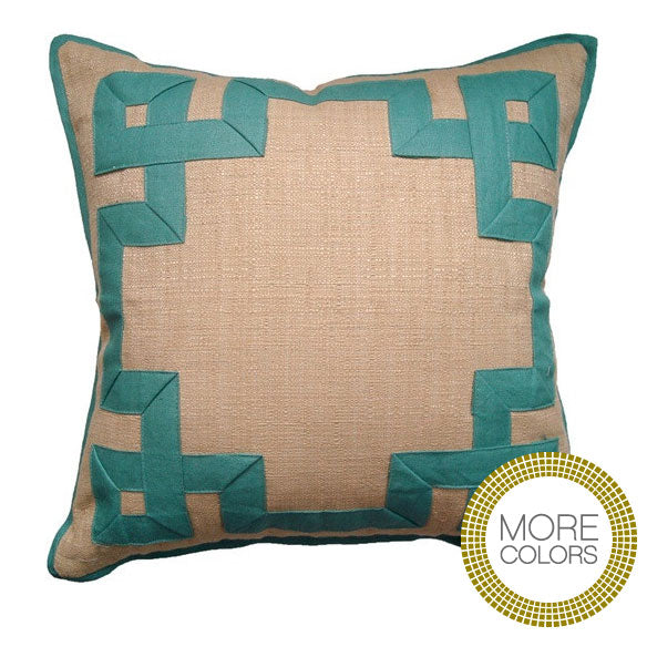 Pillows - Raffia Fretwork Pillow