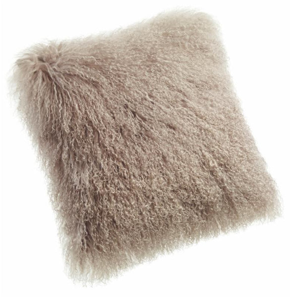 Pillows - Tibetan Lamb Pillow - Beige