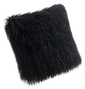 Pillows - Tibetan Lamb Pillow - Black