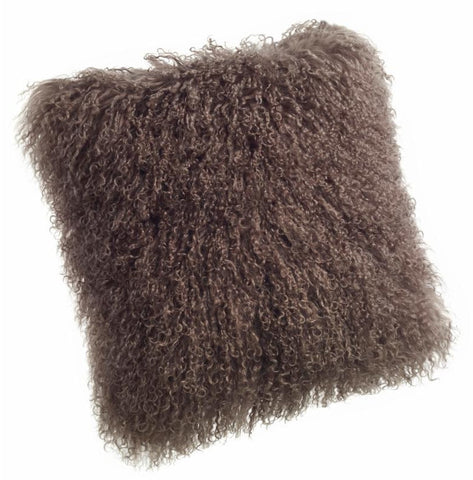 Pillows - Tibetan Lamb Pillow - Light Brown