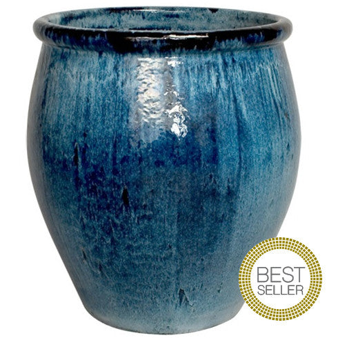 Planters & Fountains - Large Ceramic Planter - Blue