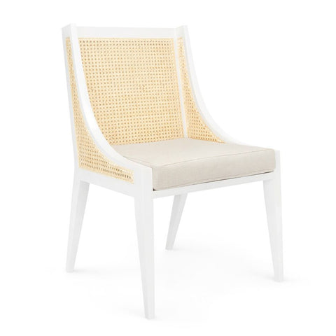 Bungalow 5 Contemporary Hand-Caned Armchair – White
